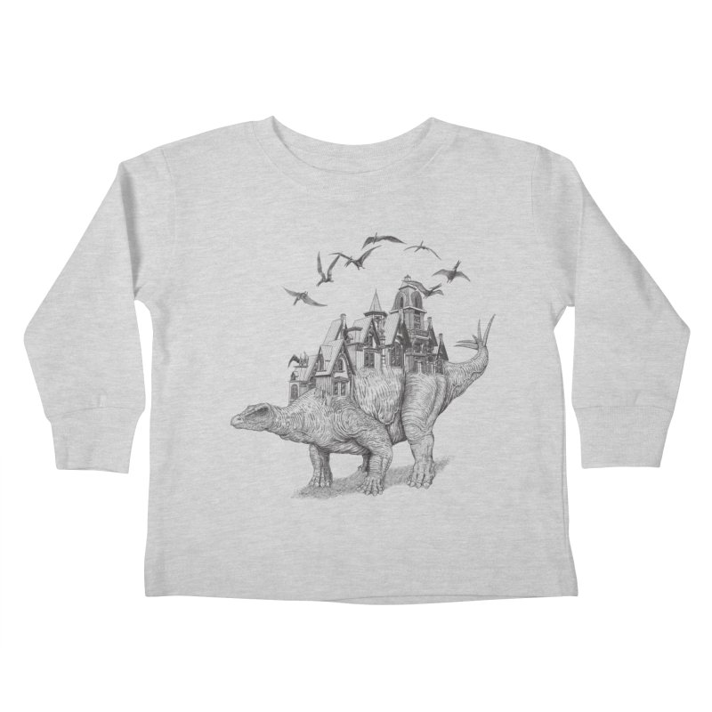 Stegoland Kids Toddler Longsleeve T-Shirt by Windville's Artist Shop