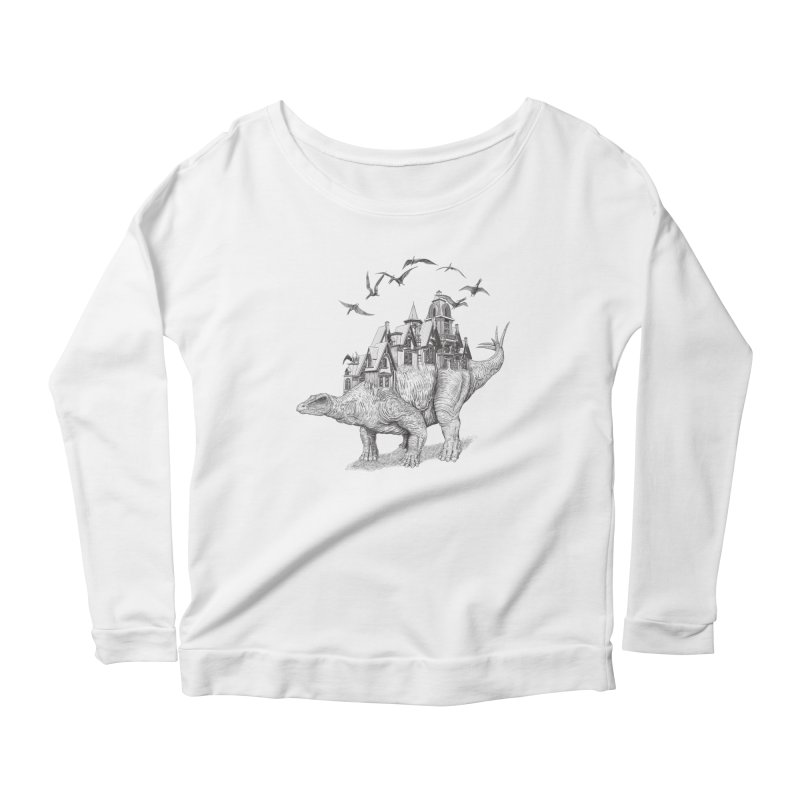 Stegoland Women's Longsleeve Scoopneck  by Windville's Artist Shop