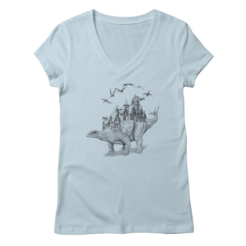 Stegoland Women's V-Neck by Windville's Artist Shop