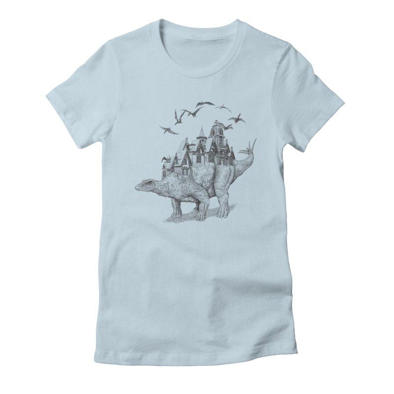 Stegoland Women's Fitted T-Shirt by Windville's Artist Shop