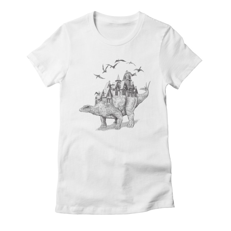 Stegoland Women's Fitted T-Shirt by Windville's Artist Shop