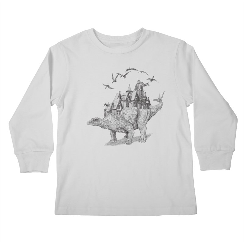 Stegoland Kids Longsleeve T-Shirt by Windville's Artist Shop