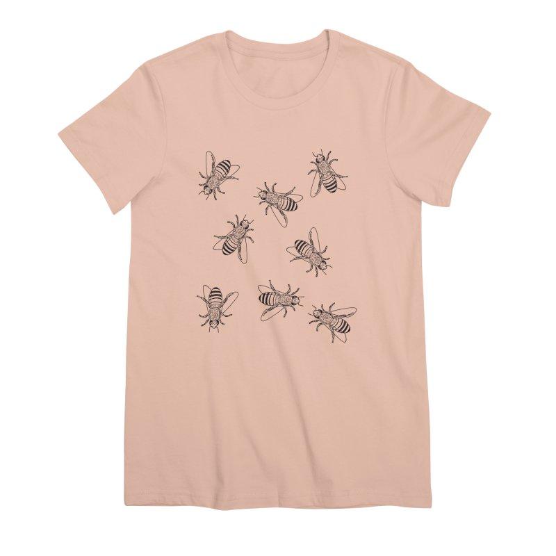 Honeybees Women's Premium T-Shirt by sand paper octopi's Artist Shop