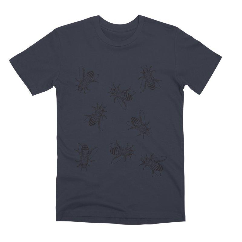 Honeybees Men's Premium T-Shirt by sand paper octopi's Artist Shop
