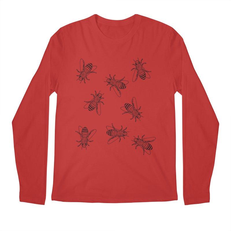 Honeybees Men's Regular Longsleeve T-Shirt by sand paper octopi's Artist Shop