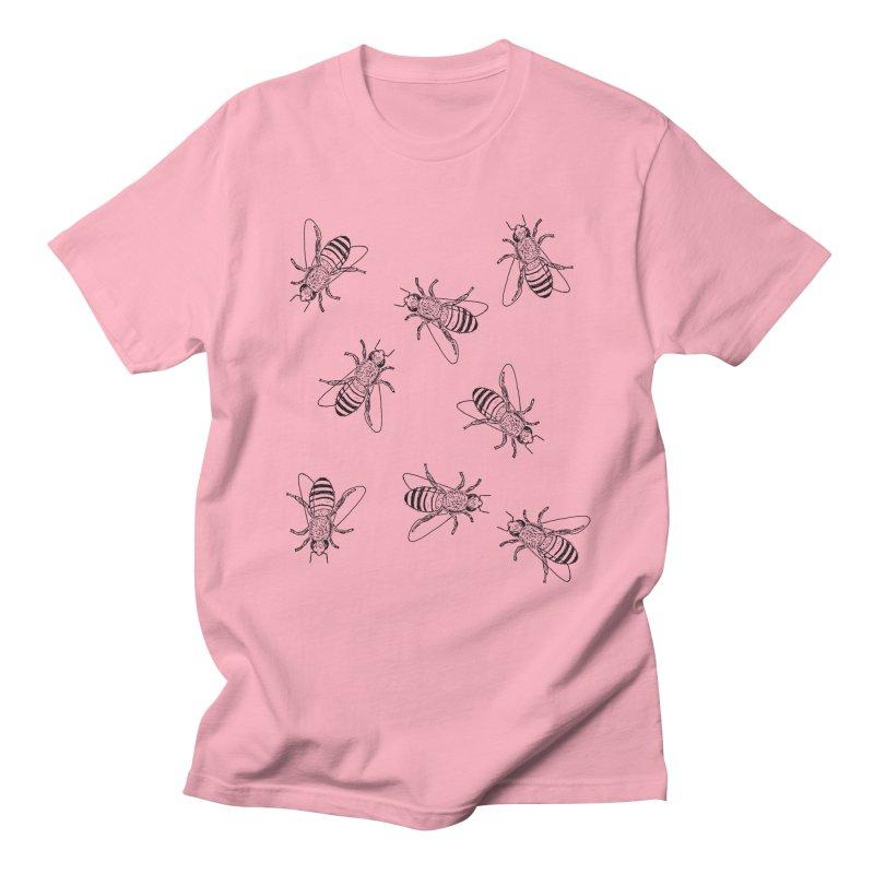 Honeybees Women's Regular Unisex T-Shirt by sand paper octopi's Artist Shop