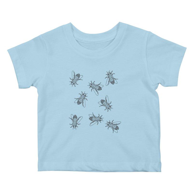 Honeybees Kids Baby T-Shirt by sand paper octopi's Artist Shop