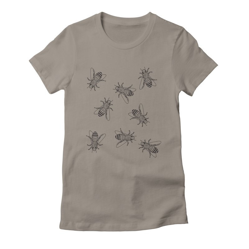 Honeybees Women's Fitted T-Shirt by sand paper octopi's Artist Shop