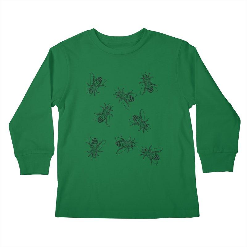Honeybees Kids Longsleeve T-Shirt by sand paper octopi's Artist Shop