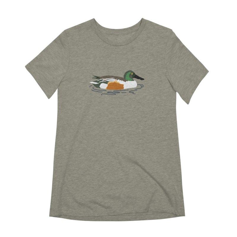 Northern Shoveler Women's Extra Soft T-Shirt by sand paper octopi's Artist Shop
