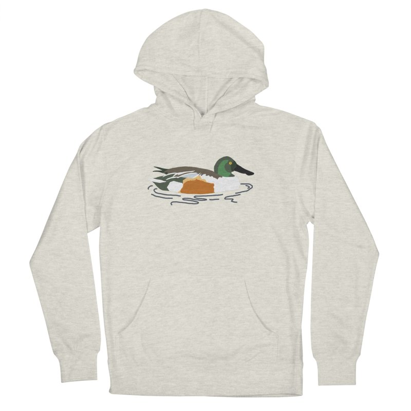 Northern Shoveler Women's French Terry Pullover Hoody by sand paper octopi's Artist Shop