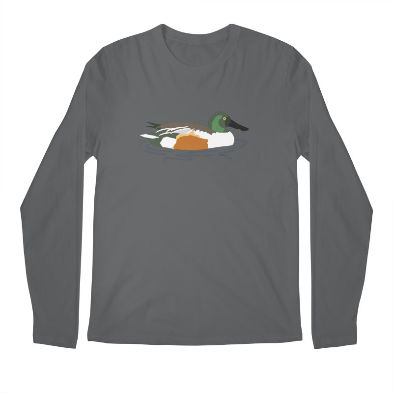Northern Shoveler Men's Longsleeve T-Shirt by sand paper octopi's Artist Shop