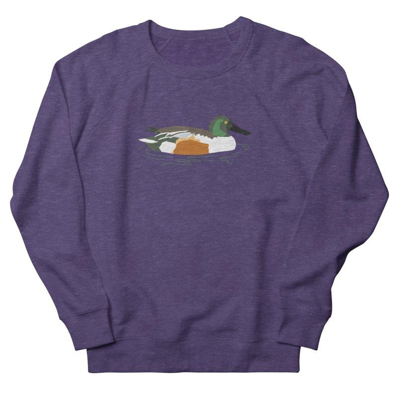 Northern Shoveler Women's French Terry Sweatshirt by sand paper octopi's Artist Shop
