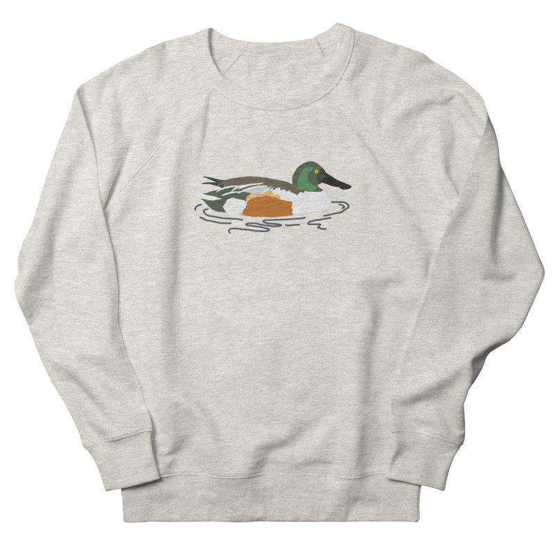 Northern Shoveler Men's French Terry Sweatshirt by sand paper octopi's Artist Shop