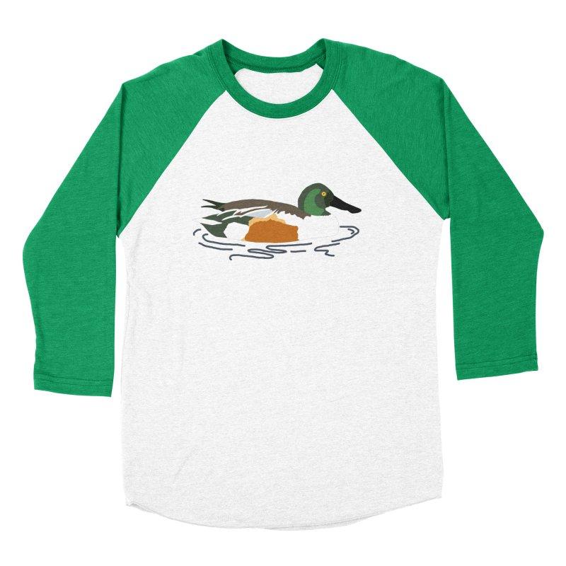 Northern Shoveler Women's Baseball Triblend Longsleeve T-Shirt by sand paper octopi's Artist Shop