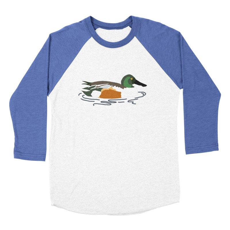 Northern Shoveler Men's Baseball Triblend Longsleeve T-Shirt by sand paper octopi's Artist Shop