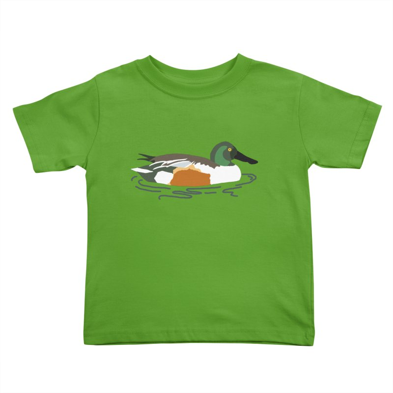 Northern Shoveler Kids Toddler T-Shirt by sand paper octopi's Artist Shop