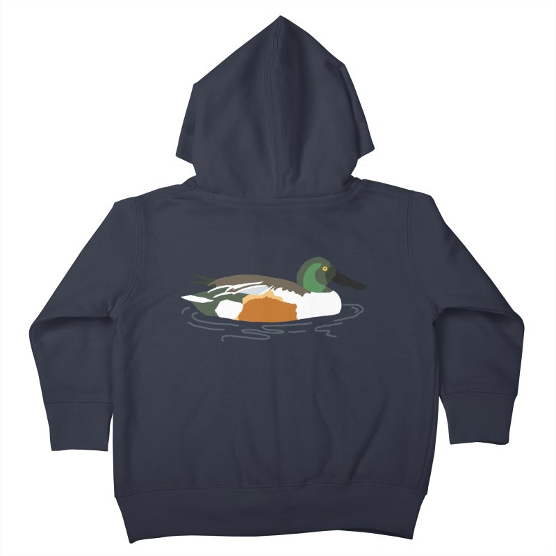 Northern Shoveler Kids Toddler Zip-Up Hoody by sand paper octopi's Artist Shop