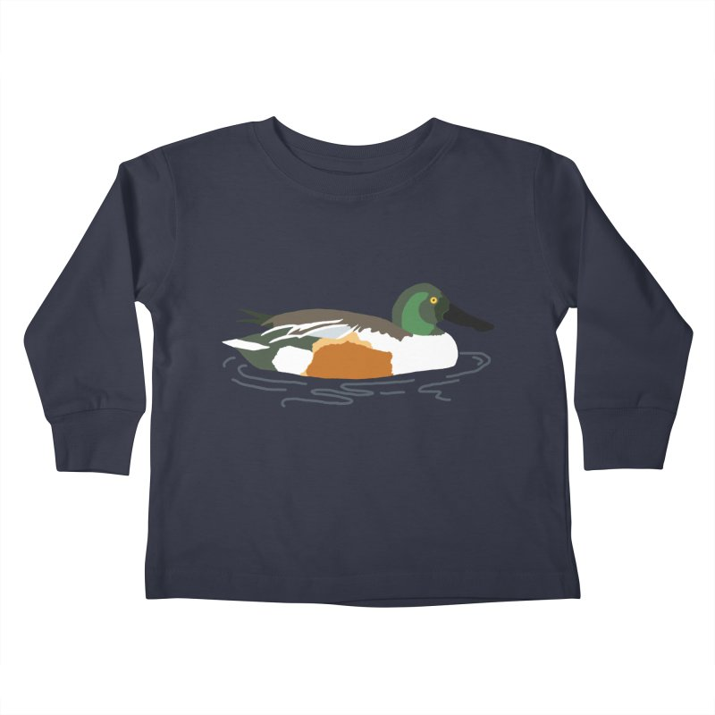 Northern Shoveler Kids Toddler Longsleeve T-Shirt by sand paper octopi's Artist Shop