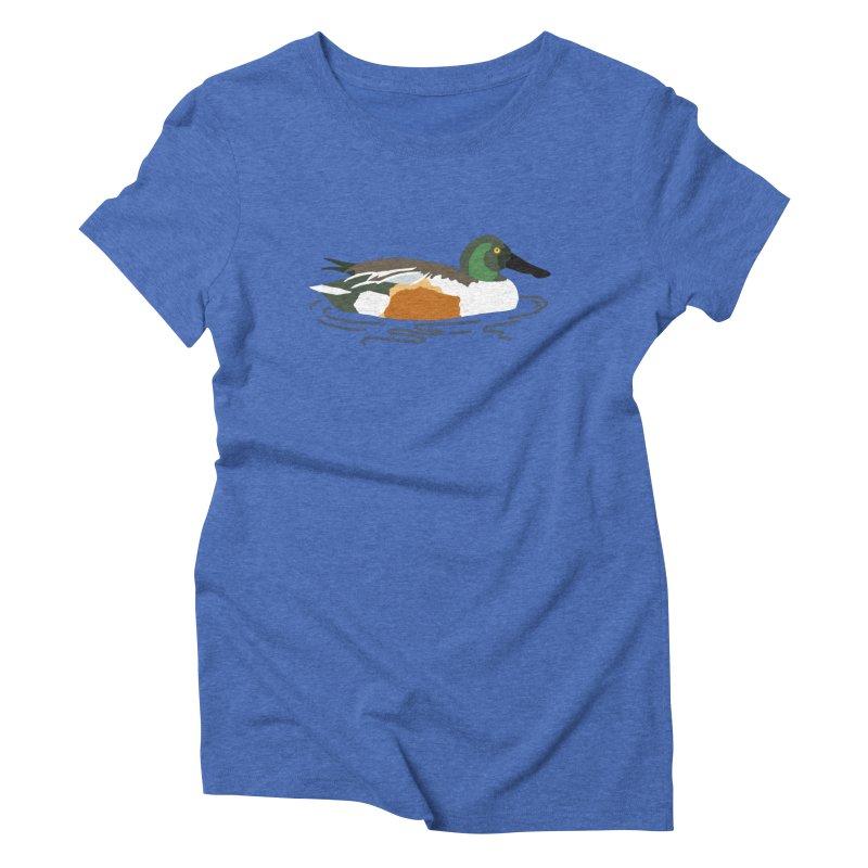 Northern Shoveler Women's Triblend T-Shirt by sand paper octopi's Artist Shop