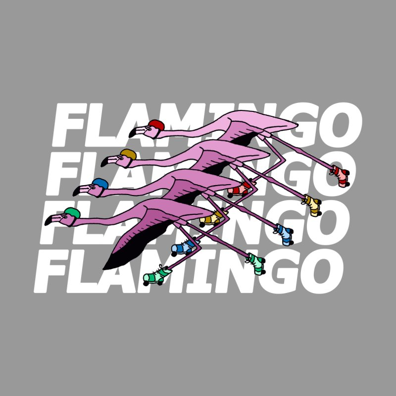 Flamingos - White Letters Men's Longsleeve T-Shirt by sand paper octopi's Artist Shop