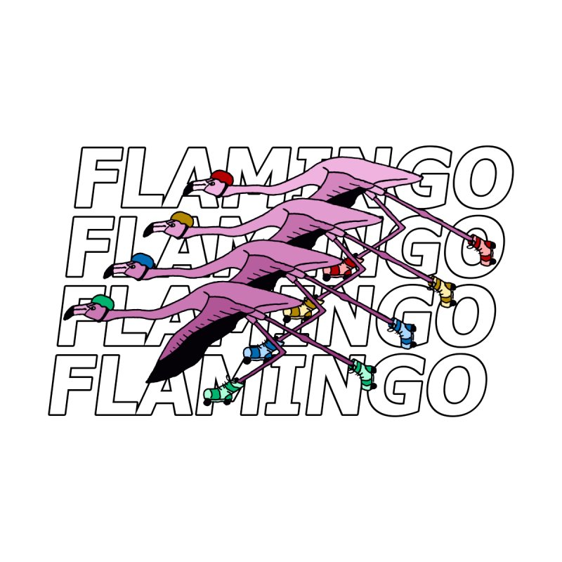 Flamingos - Transparent Letters Men's T-Shirt by sand paper octopi's Artist Shop