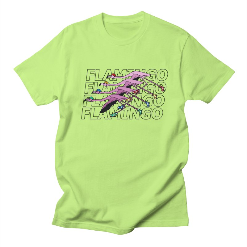 Flamingos - Transparent Letters Men's Regular T-Shirt by sand paper octopi's Artist Shop