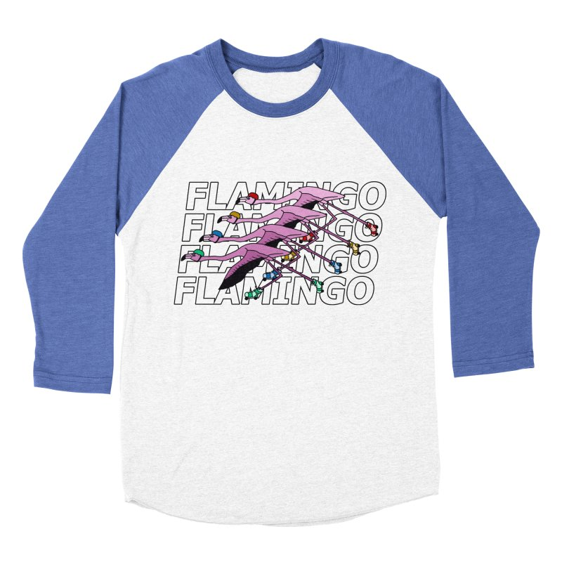 Flamingos - Transparent Letters Women's Baseball Triblend Longsleeve T-Shirt by sand paper octopi's Artist Shop