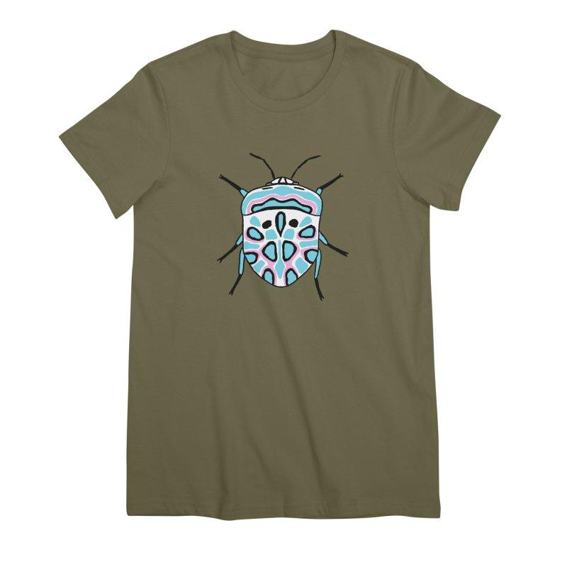 Picasso Bug Women's Premium T-Shirt by sand paper octopi's Artist Shop