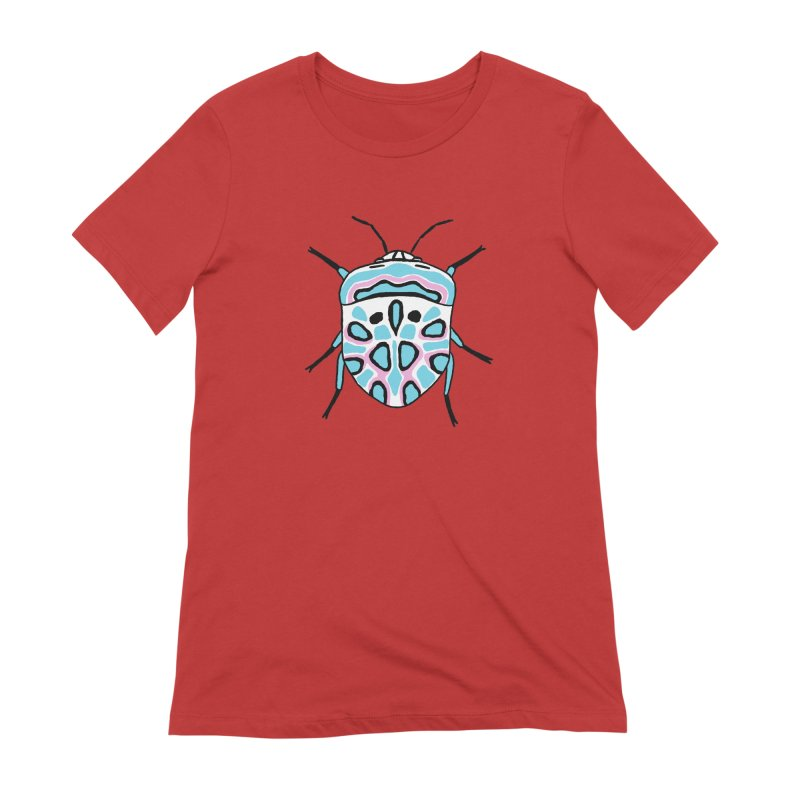 Picasso Bug Women's Extra Soft T-Shirt by sand paper octopi's Artist Shop