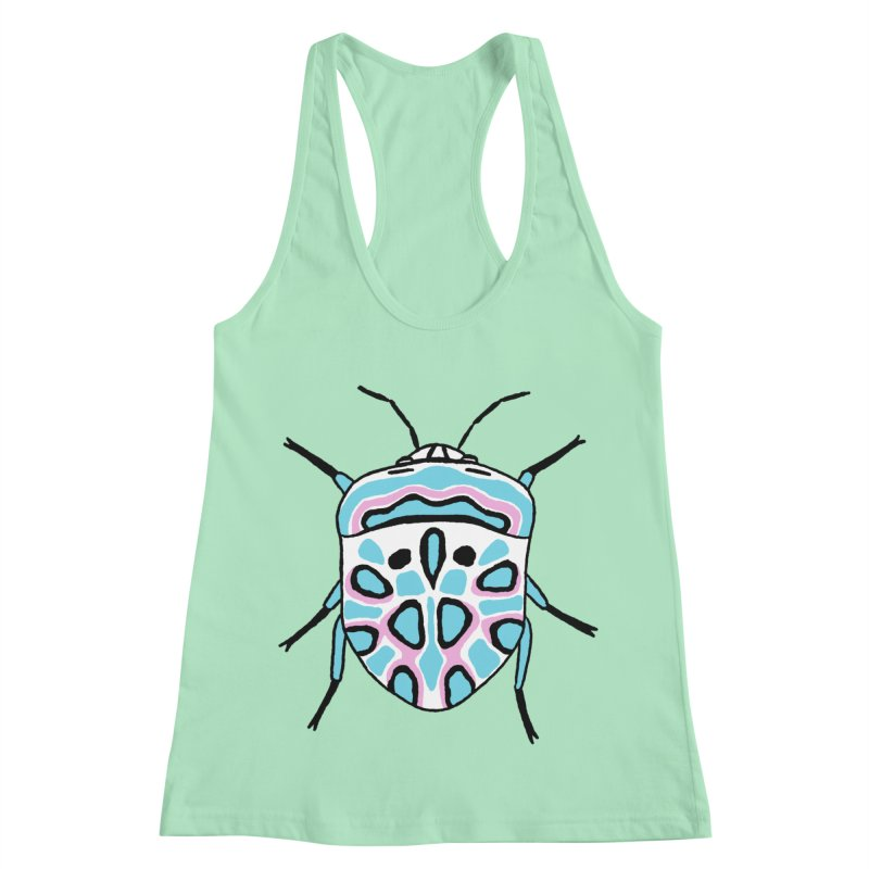 Picasso Bug Women's Racerback Tank by sand paper octopi's Artist Shop