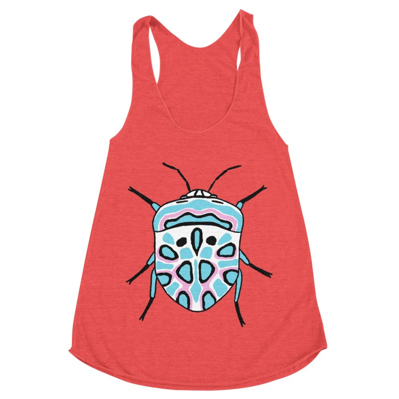 Picasso Bug Women's Racerback Triblend Tank by sand paper octopi's Artist Shop