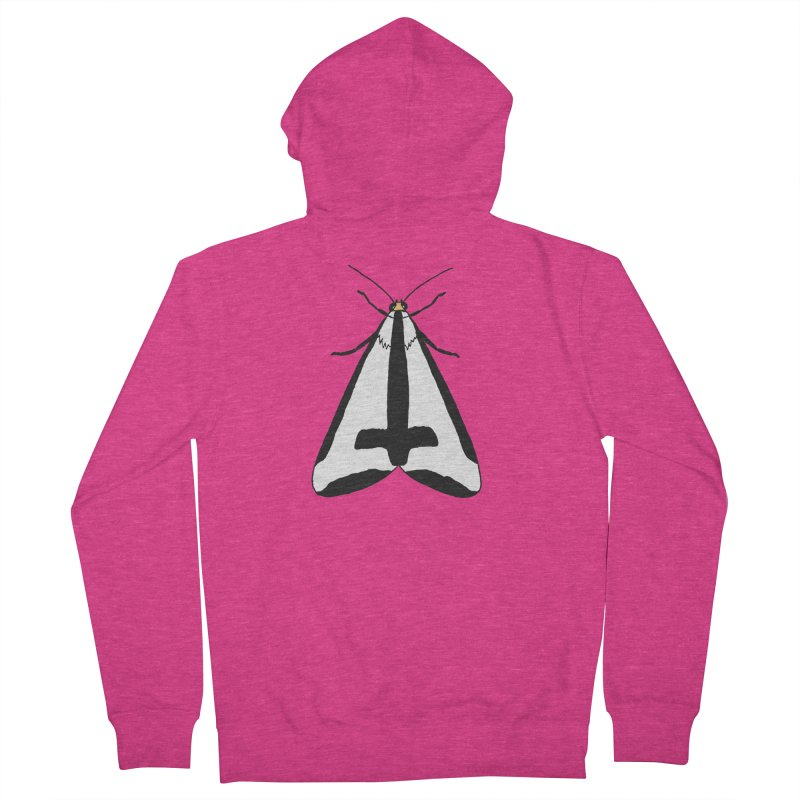Clymene Moth Women's French Terry Zip-Up Hoody by sand paper octopi's Artist Shop