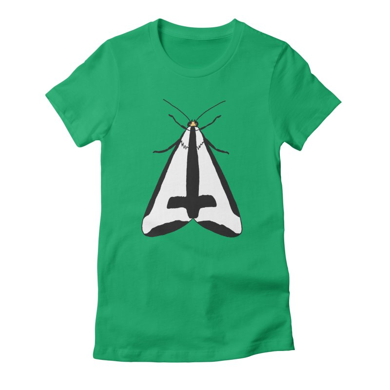 Clymene Moth Women's Fitted T-Shirt by sand paper octopi's Artist Shop