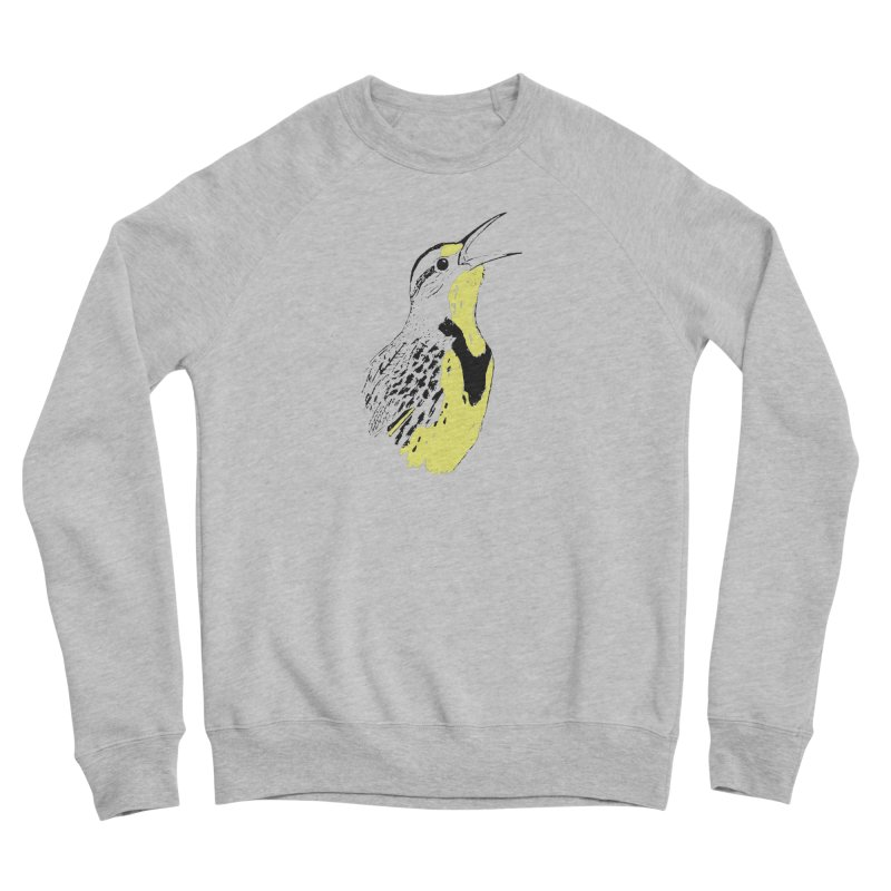 Western Meadowlark Men's Sponge Fleece Sweatshirt by sand paper octopi's Artist Shop