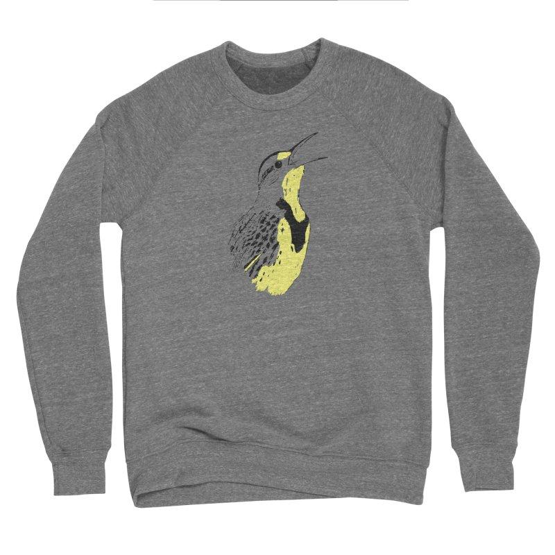 Western Meadowlark Men's Sponge Fleece Sweatshirt by sand paper octopi's Artist Shop