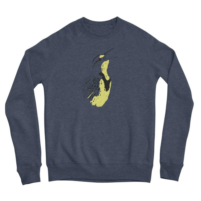 Western Meadowlark Women's Sponge Fleece Sweatshirt by sand paper octopi's Artist Shop