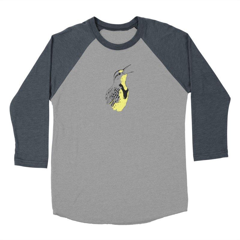 Western Meadowlark Men's Baseball Triblend Longsleeve T-Shirt by sand paper octopi's Artist Shop