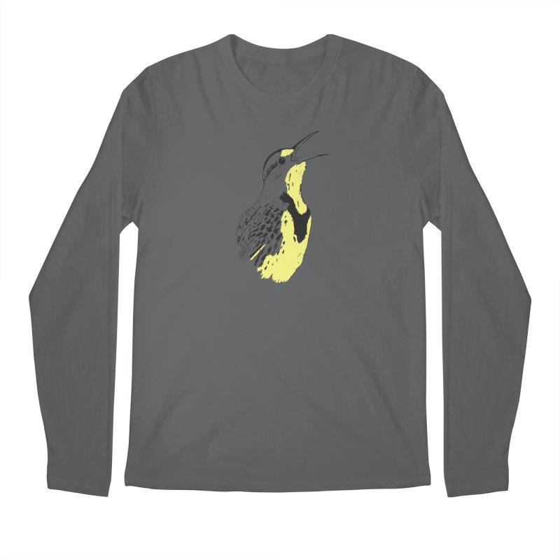 Western Meadowlark Men's Longsleeve T-Shirt by sand paper octopi's Artist Shop