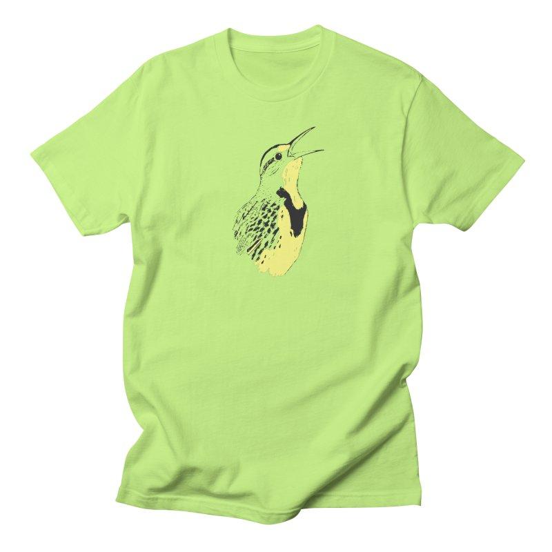 Western Meadowlark Men's T-Shirt by sand paper octopi's Artist Shop