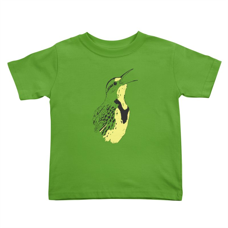 Western Meadowlark Kids Toddler T-Shirt by sand paper octopi's Artist Shop