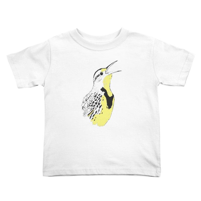 Western Meadowlark Kids Toddler T-Shirt by sand paper octopi's Artist Shop