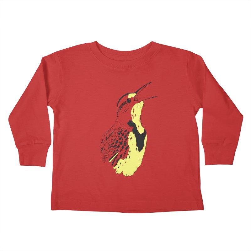 Western Meadowlark Kids Toddler Longsleeve T-Shirt by sand paper octopi's Artist Shop