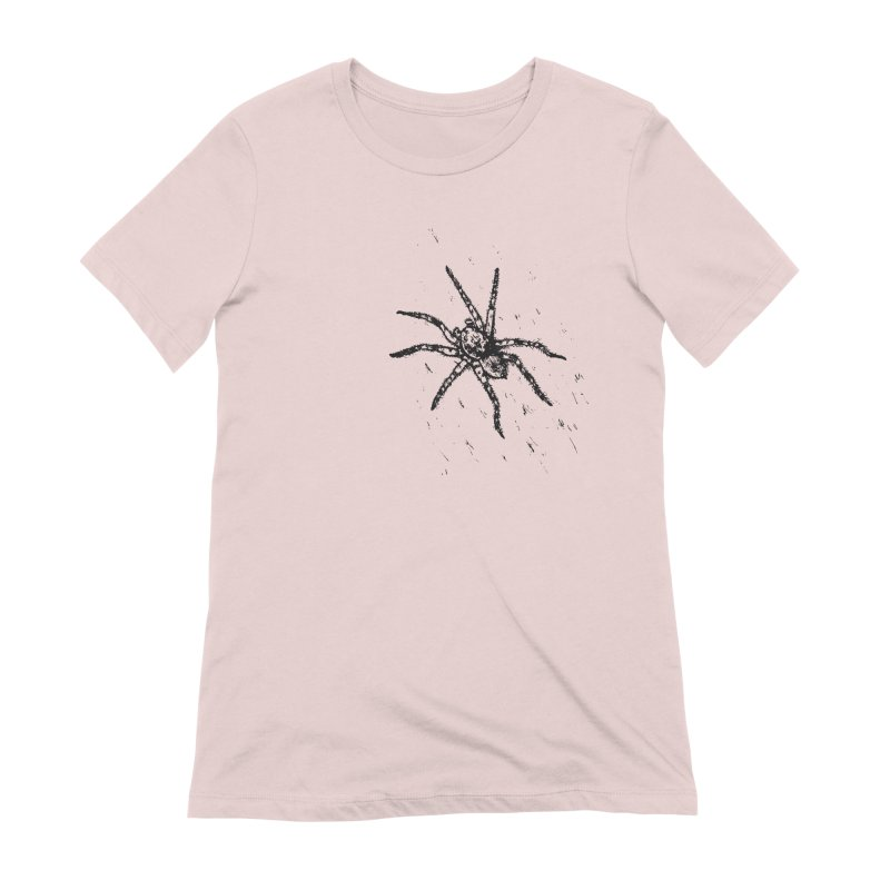 Wolf Spider Women's Extra Soft T-Shirt by sand paper octopi's Artist Shop