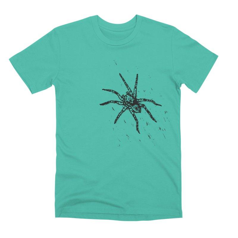 Wolf Spider Men's Premium T-Shirt by sand paper octopi's Artist Shop