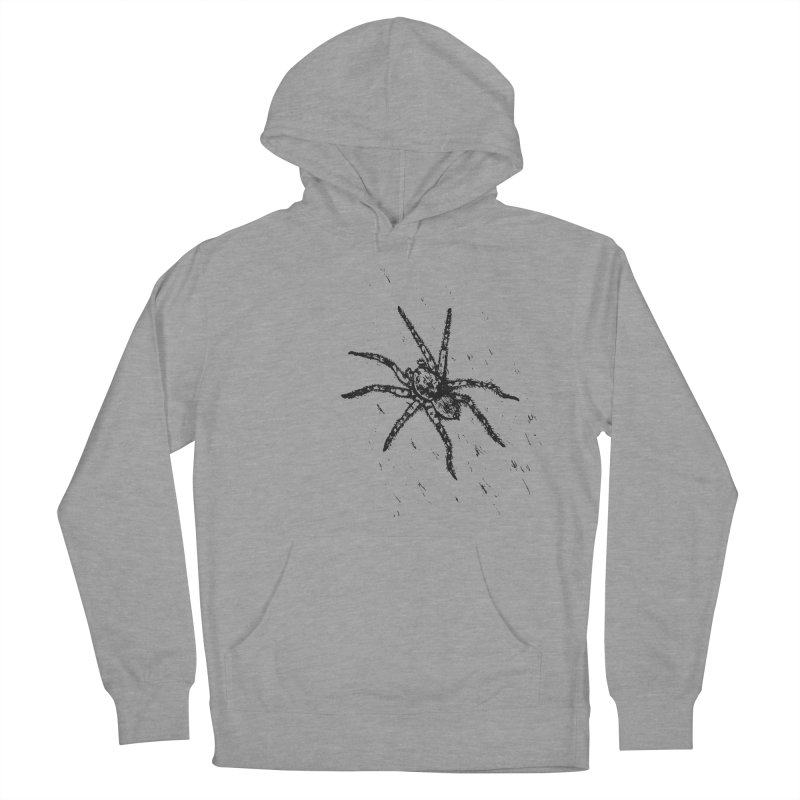 Wolf Spider Men's French Terry Pullover Hoody by sand paper octopi's Artist Shop