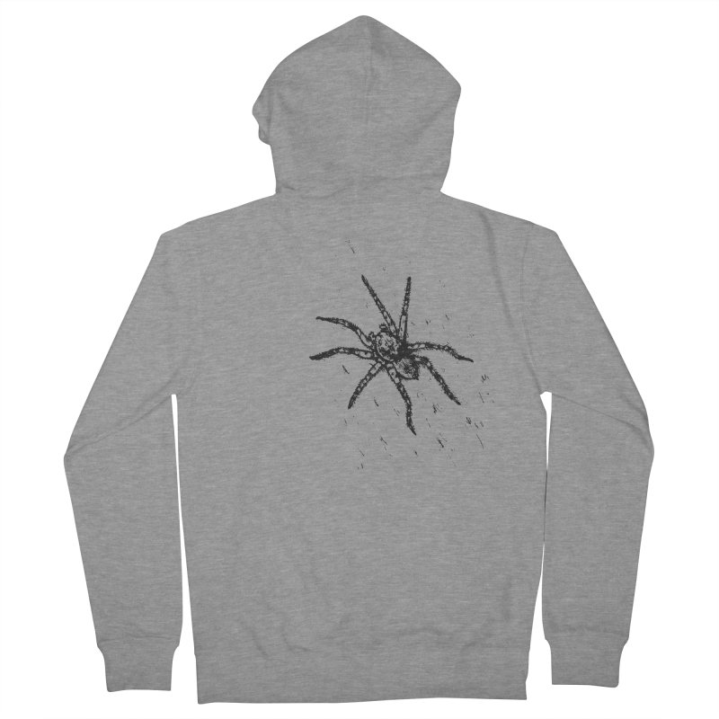 Wolf Spider Women's French Terry Zip-Up Hoody by sand paper octopi's Artist Shop