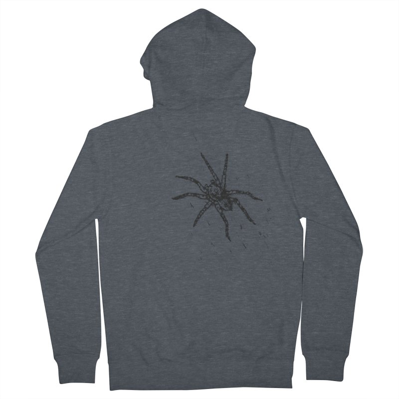 Wolf Spider Men's French Terry Zip-Up Hoody by sand paper octopi's Artist Shop