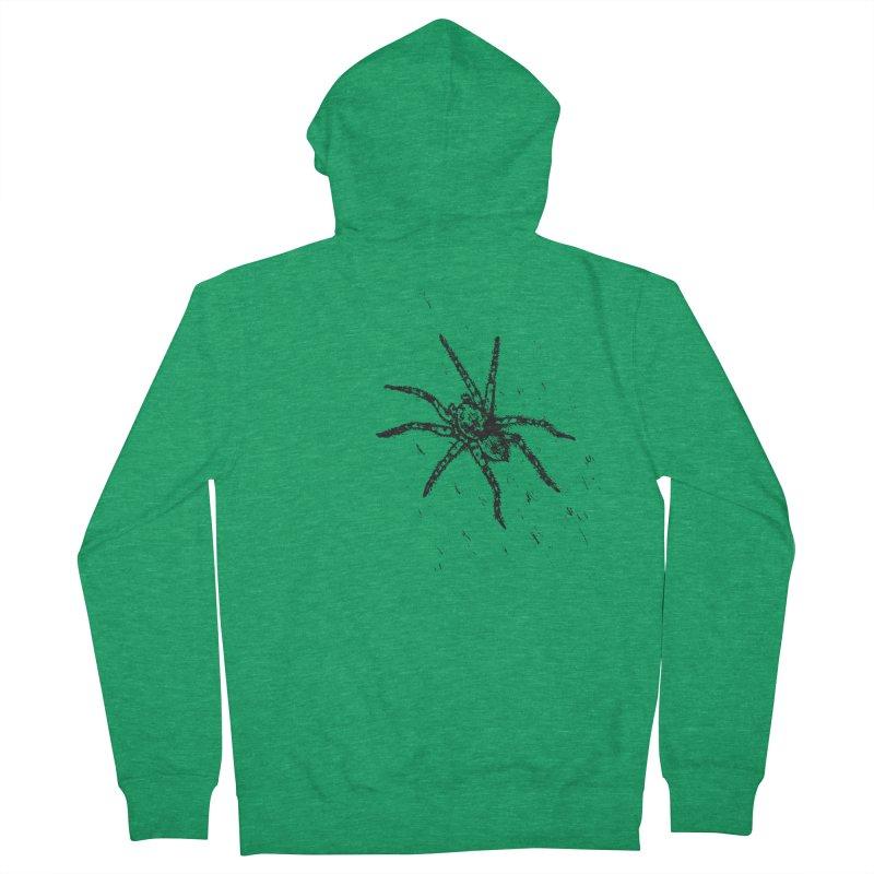 Wolf Spider Men's Zip-Up Hoody by sand paper octopi's Artist Shop