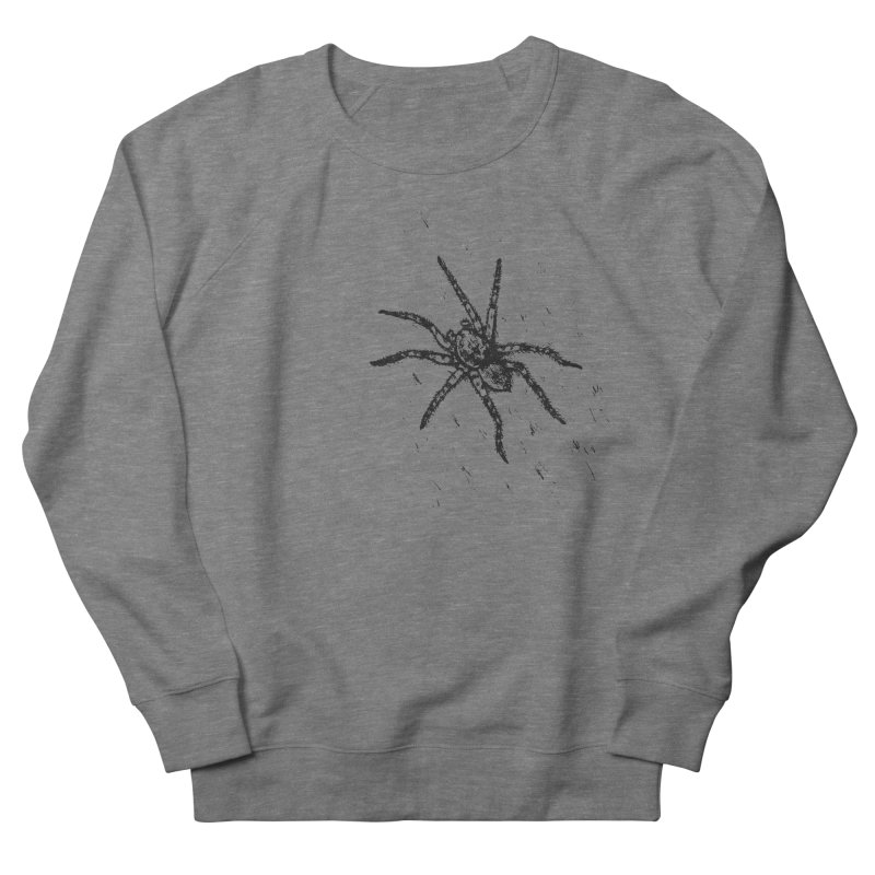 Wolf Spider Men's French Terry Sweatshirt by sand paper octopi's Artist Shop